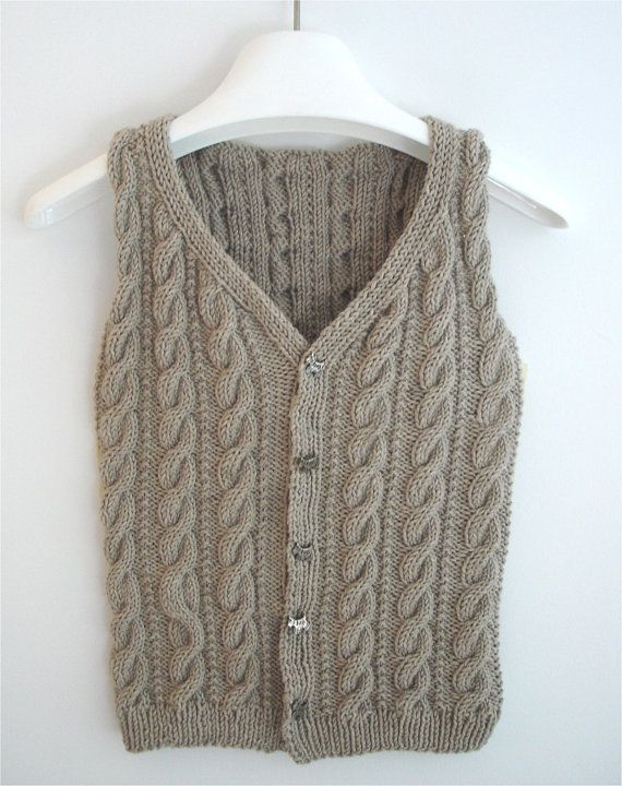 Knitting Patterns For Cable Jackets : 1000+ images about Knitted vest on Pinterest Vests, Free pattern and Cable
