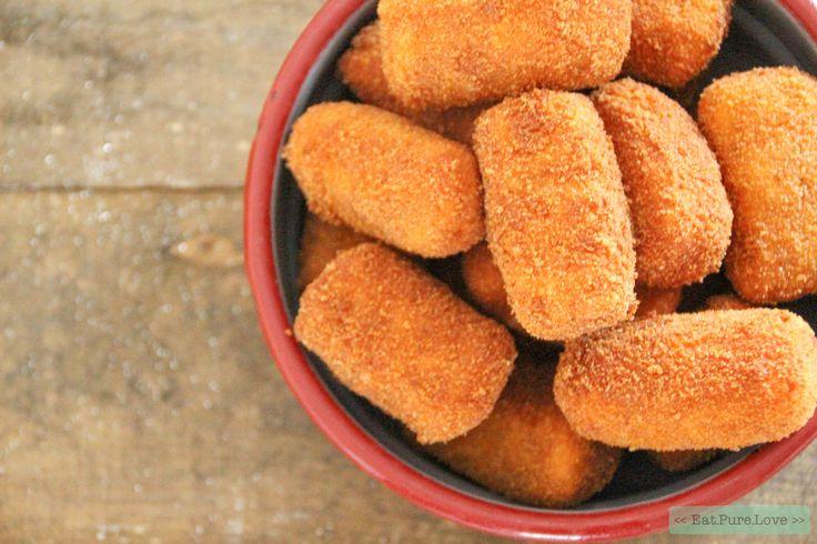 Je kunt vandaag al beginnen aan je kerstdiner! Zoete aardappel kroketjes zijn namelijk de ideale foodprep! En ook fijn, je maakt heel simpel glutenvrij!
