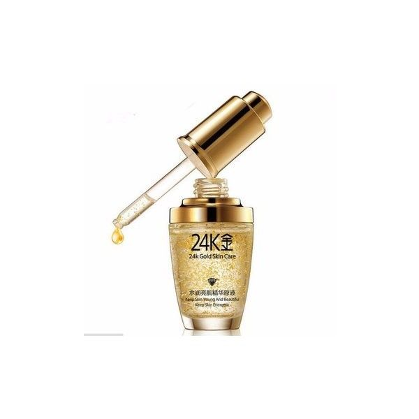 24k Gold Anti-wrinkle Essential Liquid Essence Keep Young Energetic... (£5.39) ❤ liked on Polyvore featuring beauty products, skincare, face care, essential oil, white and anti wrinkle skin care