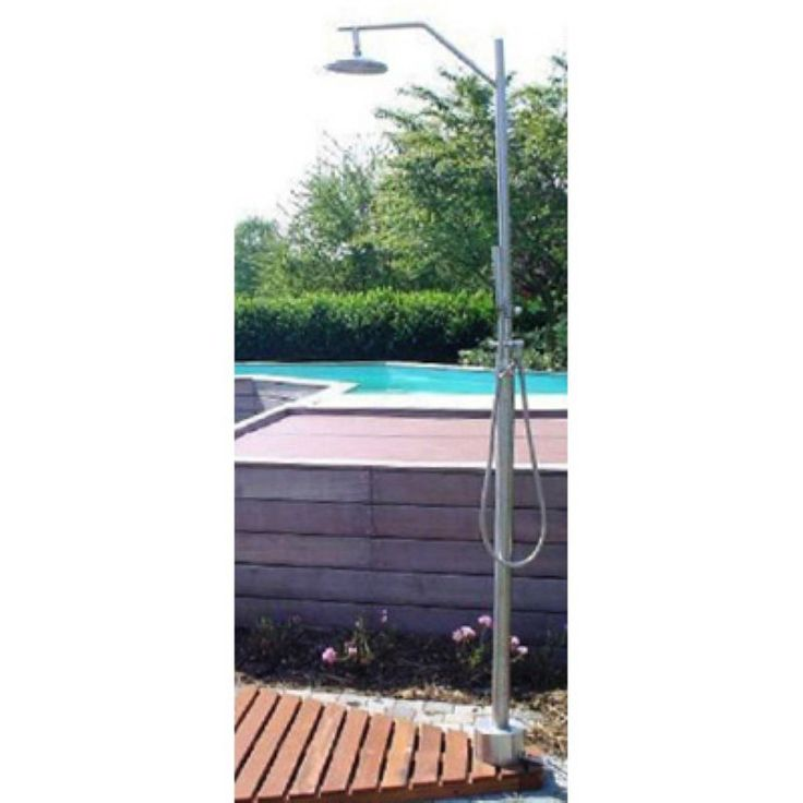Outdoor Shower Company Stainless Steel Free Standing Shower -