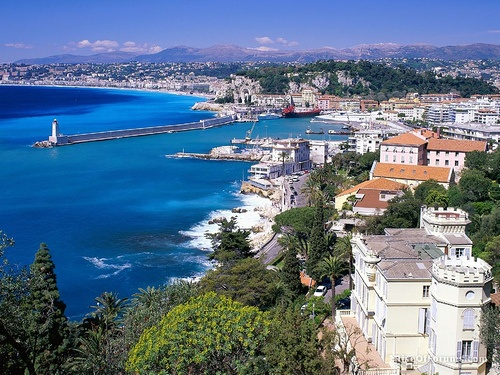 Coastal view nice France travel and world Wallpaper - Wicked Wallpaper -