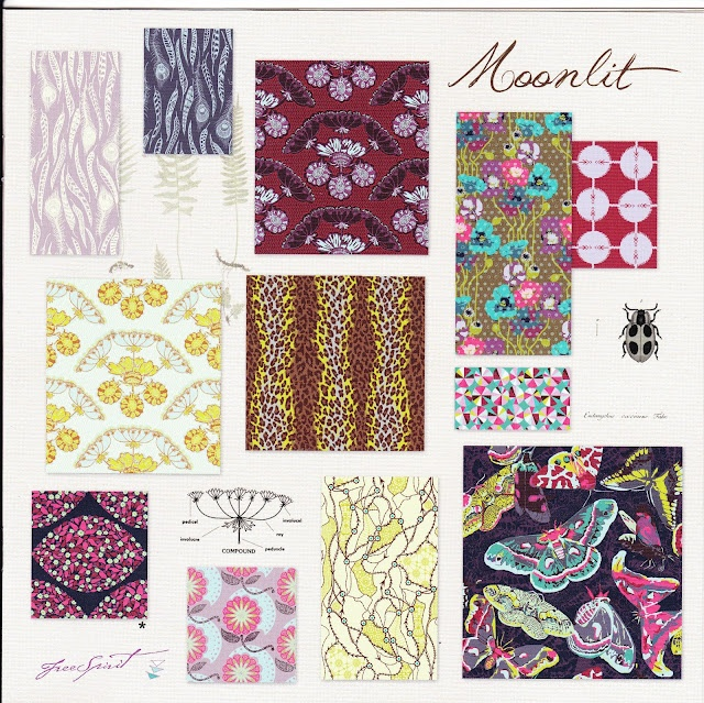 Field.Study.in.Moonlit.by.Anna.Maria.Horner: Colorway, Fields Study, Anna Maria, Fabrics Quilts, Quilts Marketing, Horner Fields, Sewing Sweet, Dear Fabrics, Sewsweet Com