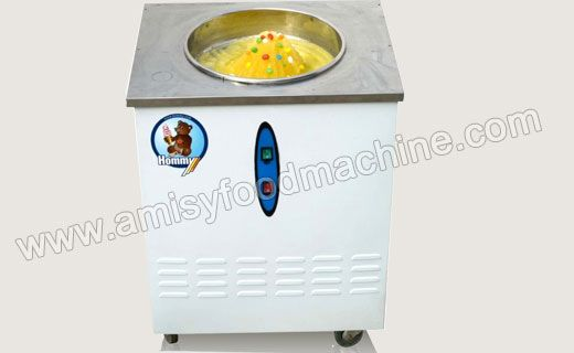 Link: http://amisyfoodmachine.com/product/ice-cream/ice-cream-machine/fried-ice-machine.html Email:  info@amisymachine.com Ice whipping machine (Single-pan Fried Ice Cream Machine) is a new type ice drink machine that can make fluid containing sugar into ice and ice cream which is a good taste in hot summer. Ice whipping machine is popular around school, bus station, cinema, tourist sites, vegetable market and streets.