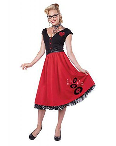 California Costumes Women's Rock N Roll Sweetheart 50's P...