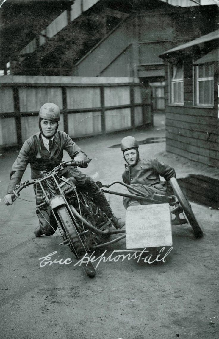 Vintage Norton Motorcycles Speedway sidecar outfit