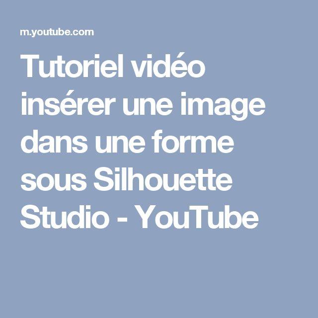 Tutoriel vidéo insérer une image dans une forme sous Silhouette Studio - YouTube