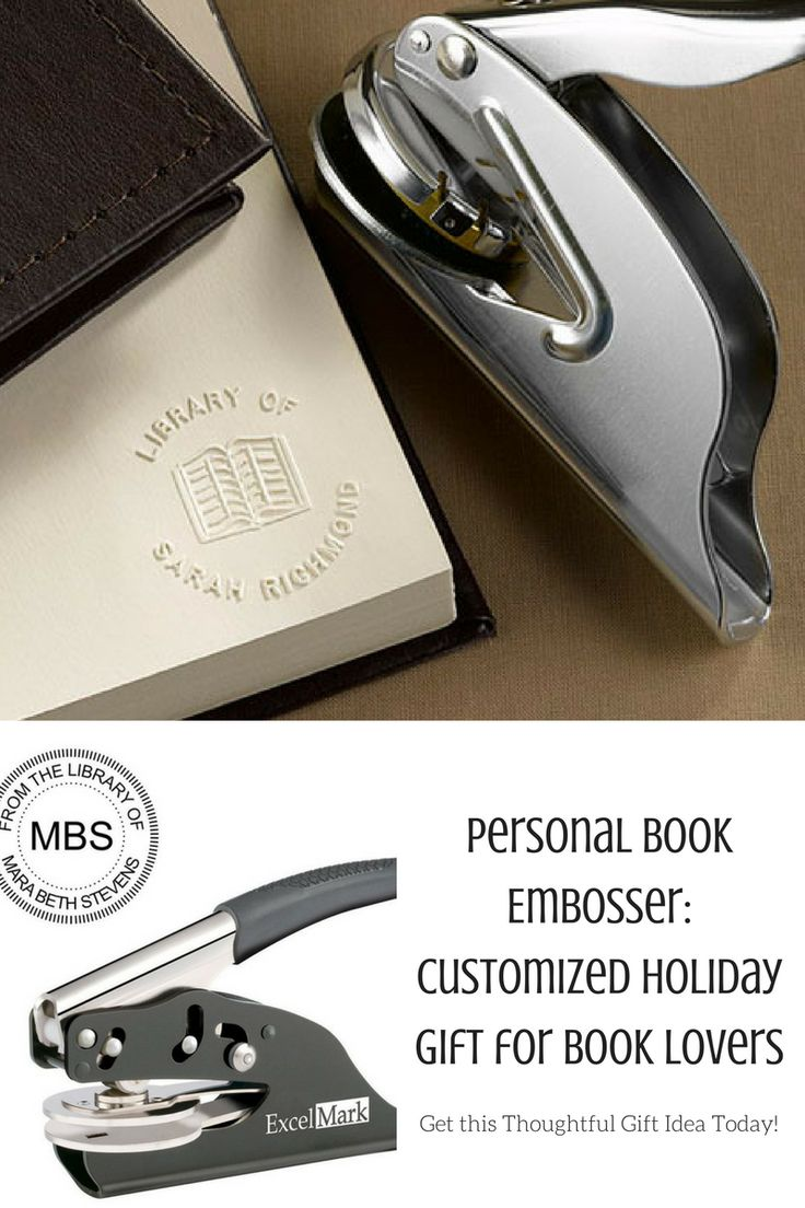 Personal book embosser- thoughtful gift for readers (aff)