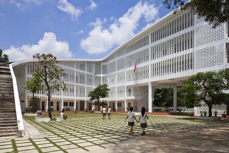 Binh Duong School, p. Dĩ An, 2011 - Vo Trong Nghia Architects