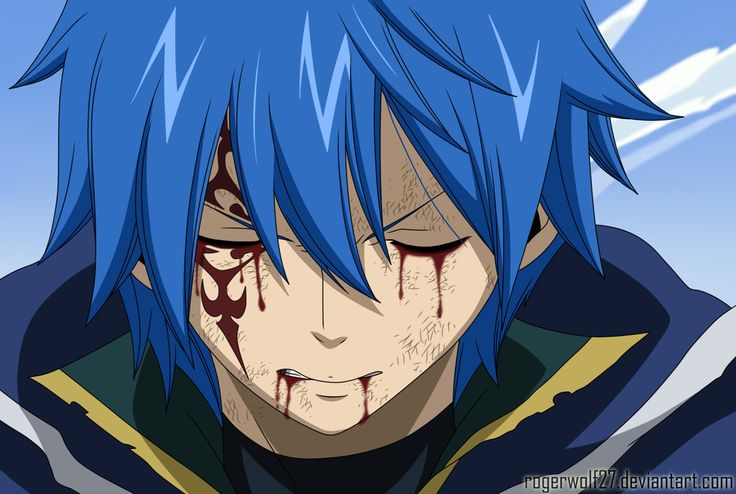 Jellal is bleeding.... this is really distressing and sad
