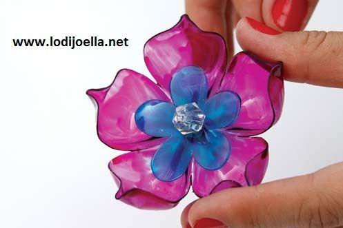 Flores con botellas Recicladas :lodijoella