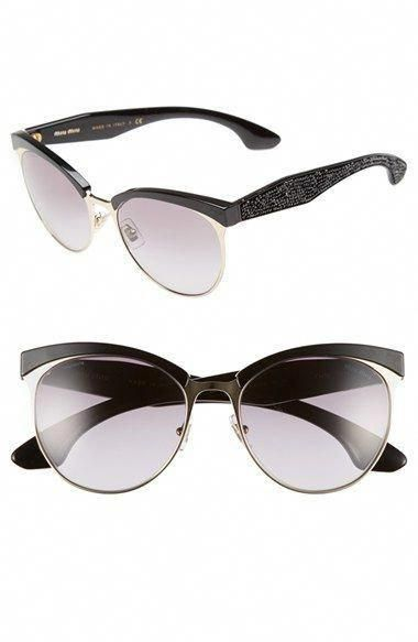 Free shipping and returns on Miu Miu Miu Miu 56mm Pavé Cat Eye Sunglasses  at Nordstrom.com. A sculpted topline and pavé crystal-encrusted te… 44806458631