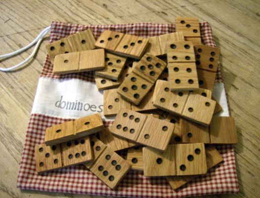 Wooden Domino Set DIY - Make your own old-fashioned counting game with this easy woodworking tutorial.