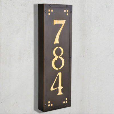 Americas Finest Lighting Pasadena Ave Vertical 12 Volt Illuminated House Numbers - Medium Wispy White - AF-L32-12V-NV-WW