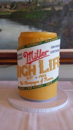 Miller High Life Groom's Cake