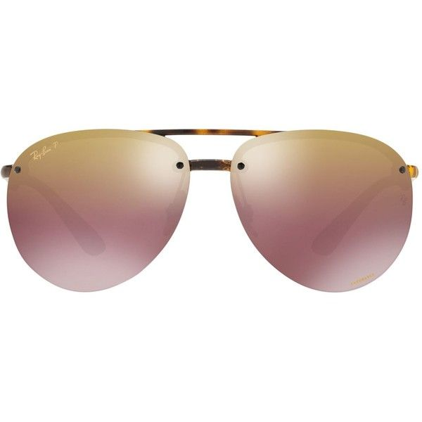 Ray-Ban Polarised Mirror Aviator Sunglasses (730 BRL) ❤ liked on Polyvore featuring accessories, eyewear, sunglasses, mirror sunglasses, mirror lens aviator sunglasses, mirrored heart sunglasses, mirrored lens sunglasses and heart shaped glasses