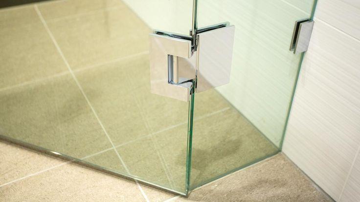 Euroglass shower screens with square hinge