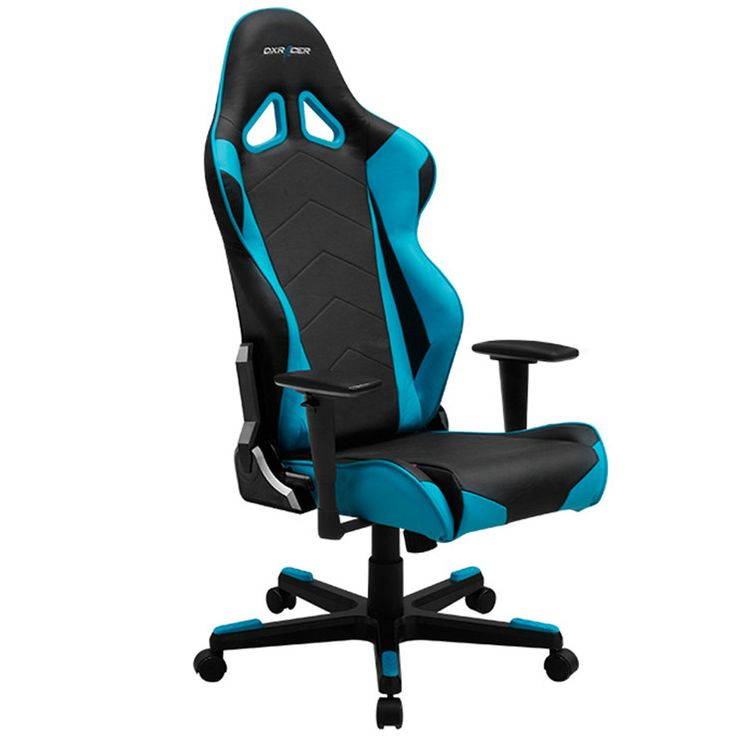 dxracer re0nb ergonomic office chair racing bucket seat gaming chairblue
