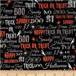 Spooky Words Black