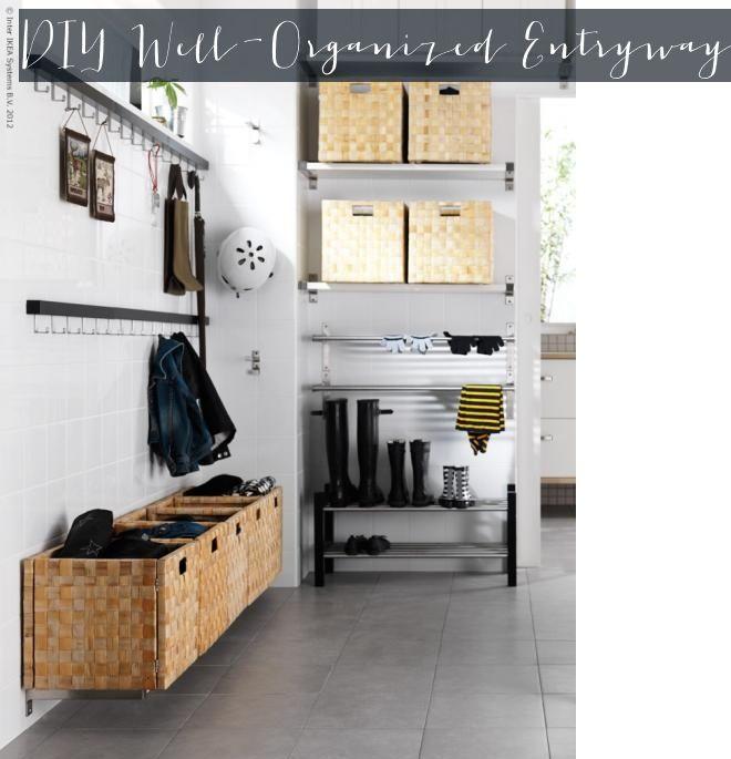 Diy Well Organized Entryway Using Ikea Diy Home Pinterest