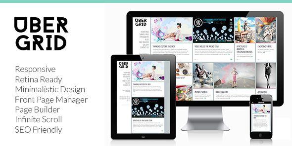 Ubergrid - Responsive Grid WordPress Theme - News / Editorial Blog / Magazine