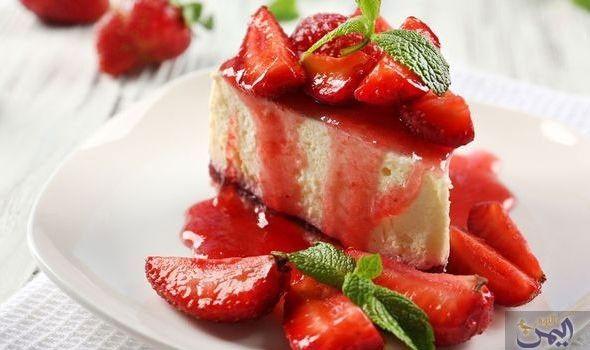 طريقة تحضير حلو الفراولة اللايت Food Recipes Desserts