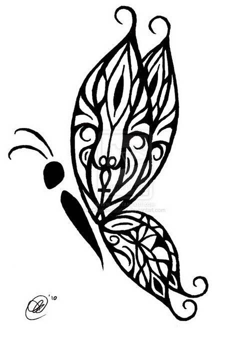 Amazing Tribal Butterfly Tattoo Design: Celtic Tribal Butterfly Tattoo Designs ~ lookmytattoo.com Tattoo Design Inspiration