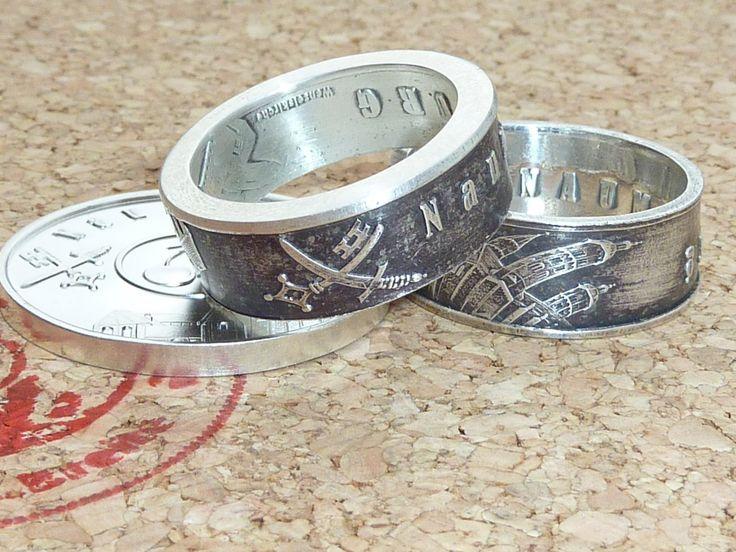 So schön sehen Ringe mit Naumburger-Motiv aus in 999 Feinsilber.