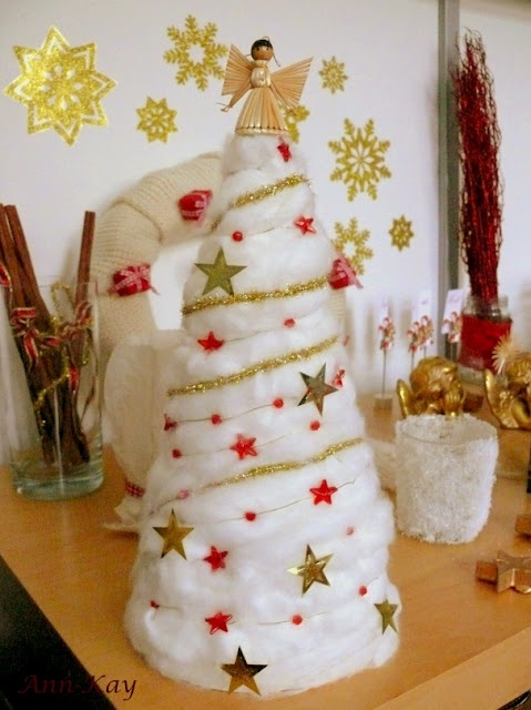 Cotton Wool Christmas Tree: Cotton Ball, Advent Calender, 1 2 Wool, Cotton Wool, 12 Wool, Christmas Display, Christmas Trees, Wool Christmas, Diy Christmas