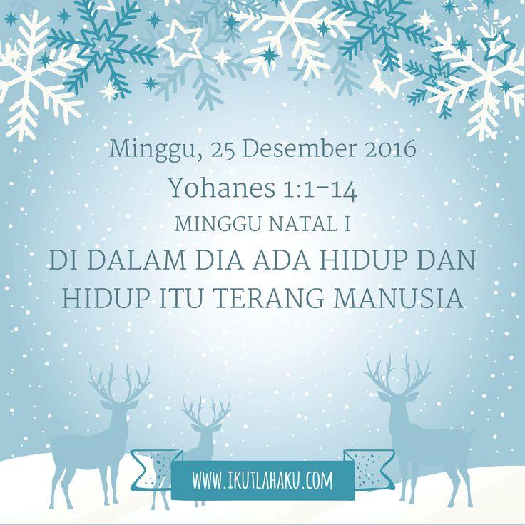 Renungan Hari Minggu 25 Desember 2016