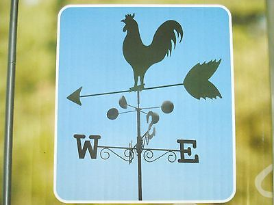 Rooster Weather Vane Metal Wind Speed Farm Garden Decor Country