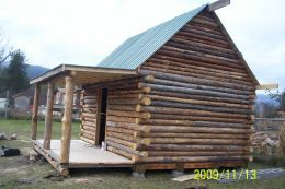 how to build a log home from scratch