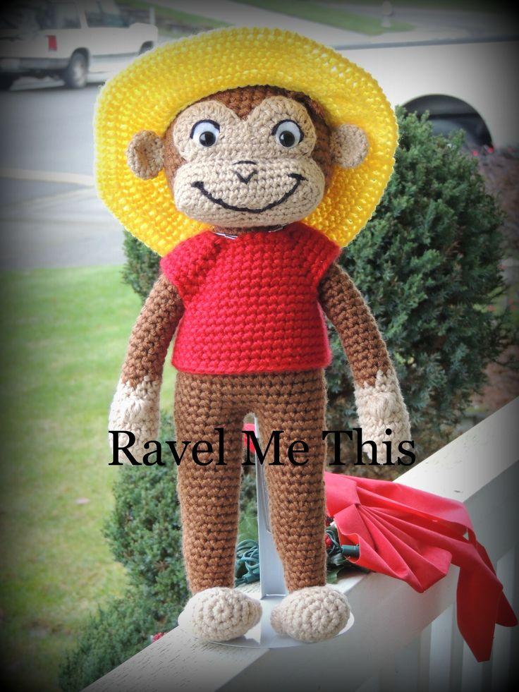 Curious George Crochet Doll