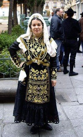 Charro costume of Salamanca Region, Spain.