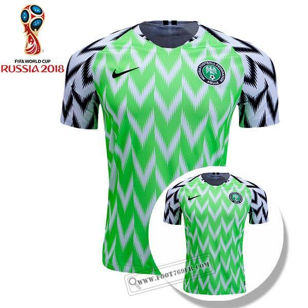Vente Nouveau Replica Maillot Equipe Nigeria Domicile Vert