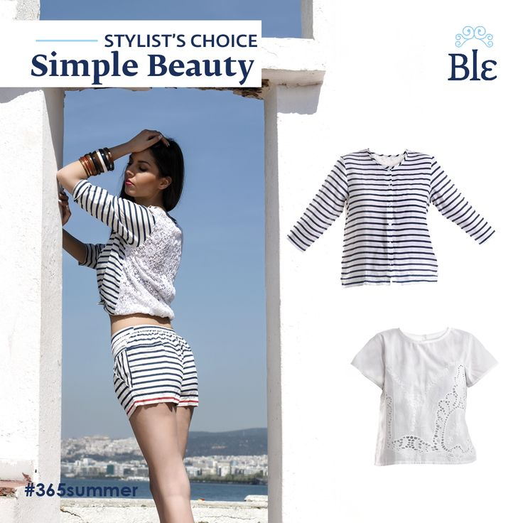 Spring breeze brings fresh choices! Our new collection of blouses is ready to wind up your wardrobe. Light fabrics in white and blue colours with little extra details such as stripes and embroideries, form impressive pieces for your Spring and Summer getaways.  Discover the collection at www.ble-shop.com