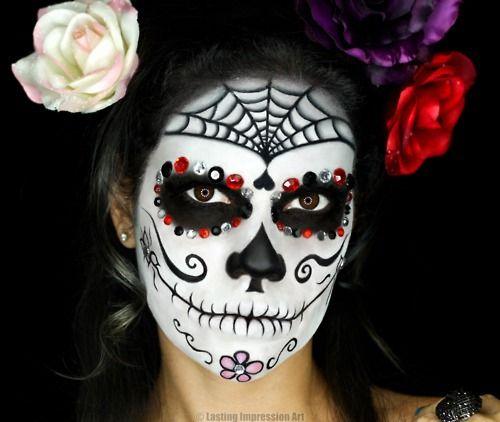 Editar fotos con maquillaje de dia de muertos | Ideas-para-pintar-el-rostro-de-calaverita-dia-de-los-muertos-4