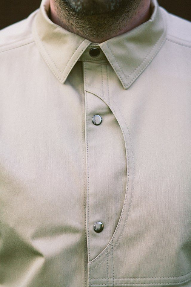 FlatRock NAPOLEON SAND SHIRT - details, shirt, buttons, pocket, layout, cut,