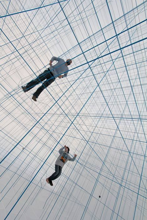 Numen/For Use creates 3D grid of ropes inside inflatable String Prototype installation
