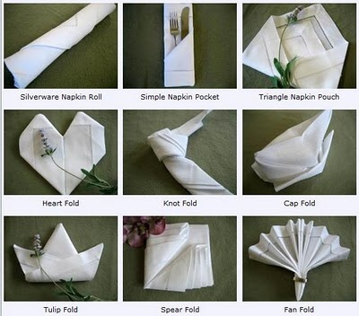 Diffe Ways To Fold Napkins More Ideas Are On The Site