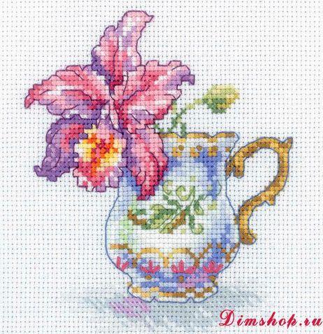 Набор RTO EH305 Чашка и орхидея 12х12 см