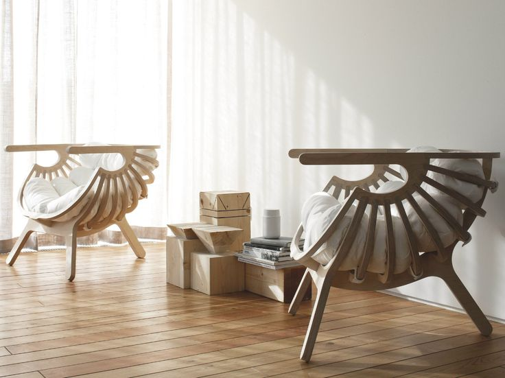 Exceptional Multi Layer Wood Easy Chair With Armrests SHELL CHAIR By Branca Lisboa  Design Marco Sousa Santos Nice Look