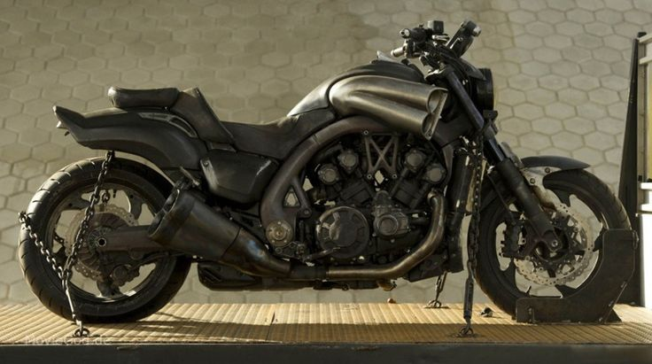 Charred - All Black Yamaha VMAX - the Ghost Rider Bike from the Movie Ghost Rider: Spirit of Vengeance (2011)