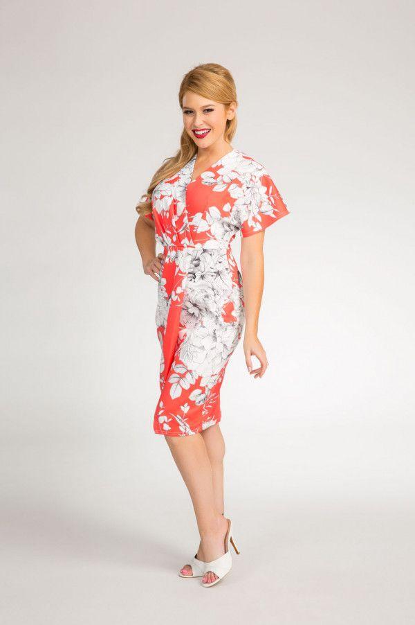 Cora Wrap Dress in Floral Print