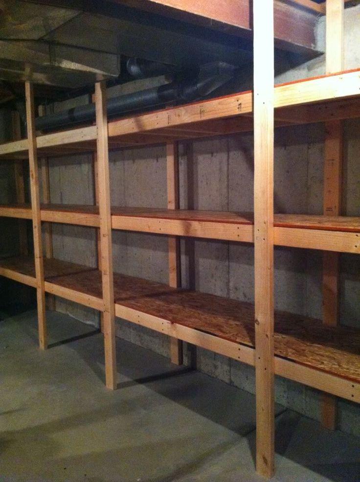DIY Basement Storage. Picture to showPhillip.