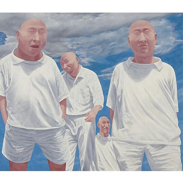 Fang Lijun , B. 1963 Series 2, No. 6 oil on canvas