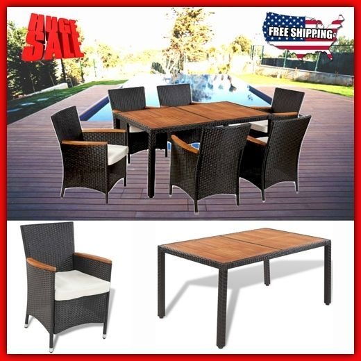 Details About Outdoor Dining Set Garden Patio Furniture Clearance Pool Table  Chair Seat Rattan