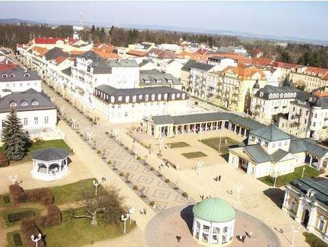 Letecký záběr na centrum města