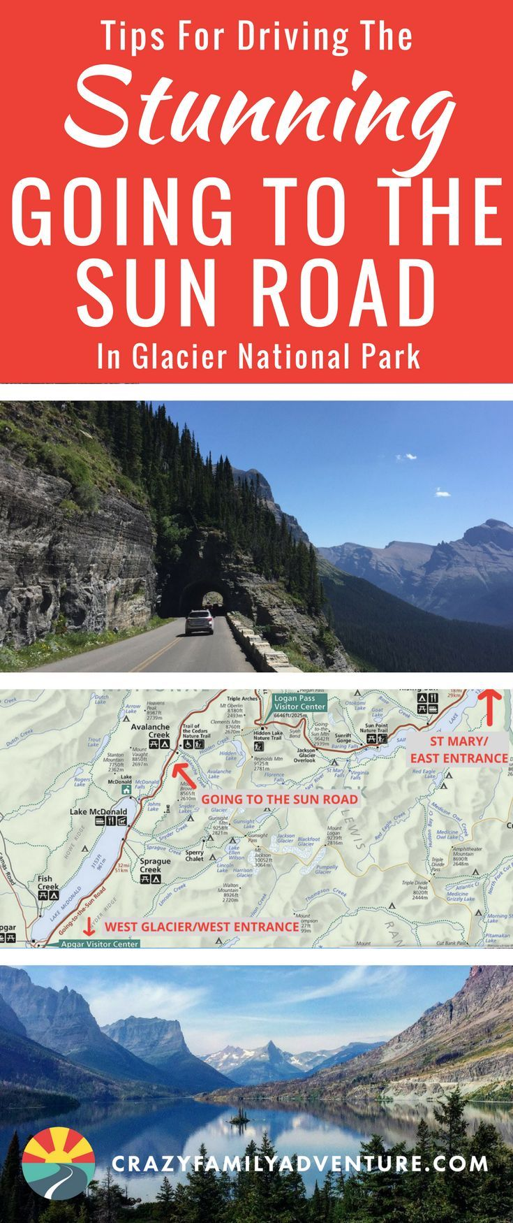 Top tips for driving the Stunning Going To The Sun Road in Glacier National Park