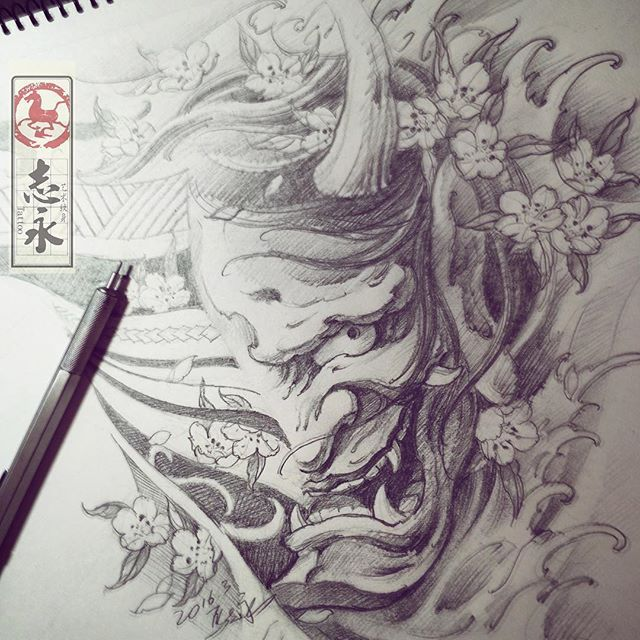25+ Best Ideas About Oni Mask Tattoo On Pinterest