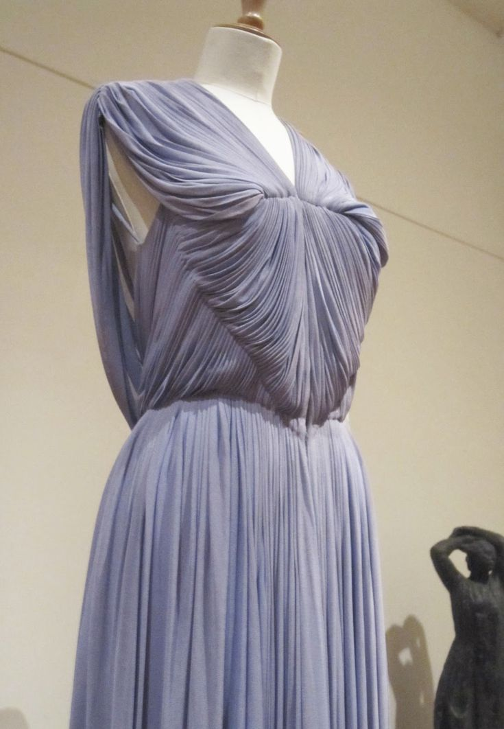 This July I had the privilege of learning the pleating technique Madame Gres used from Madame Pico, a seamstress that worked in her couture ...